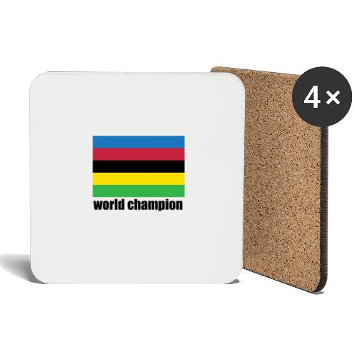 world champion cycling stripes - Onderzetters (4 stuks)