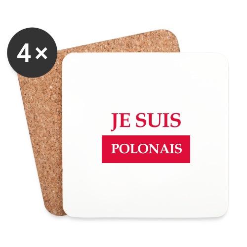 Je suis Polonais - Podstawki (4 sztuki w zestawie)