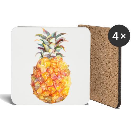 Piña tropical - Posavasos (juego de 4)