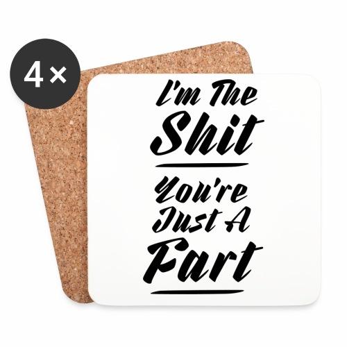 I am the shit ! BLK √ - Glasbrikker (sæt med 4 stk.)