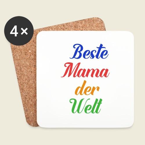 Beste Mama der Welt schön bunt - Untersetzer (4er-Set)