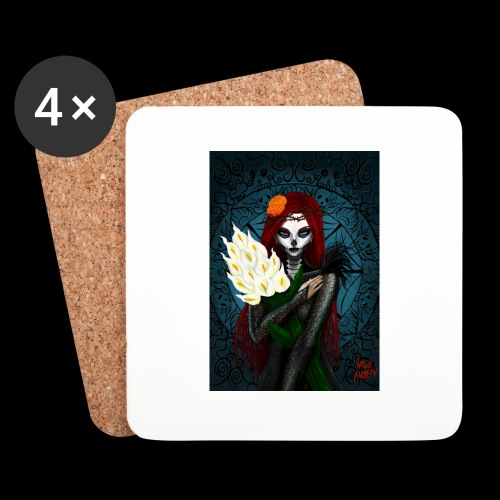 Death and lillies - Coasters (set of 4)