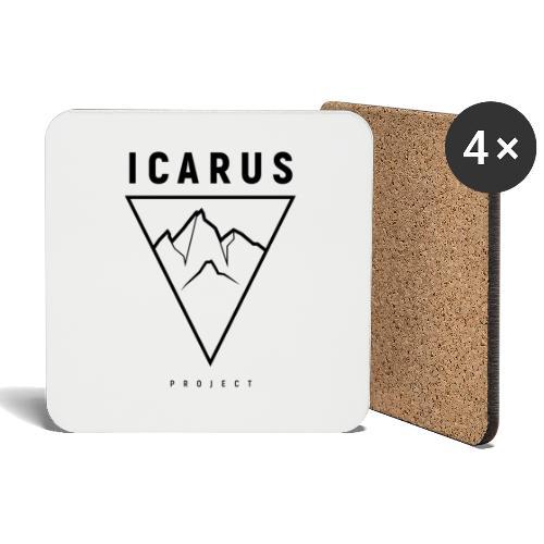LOGO ICARUS noir - Dessous de verre (lot de 4)