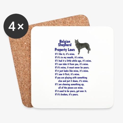 Belgian Shepherd Property laws - Coasters (set of 4)