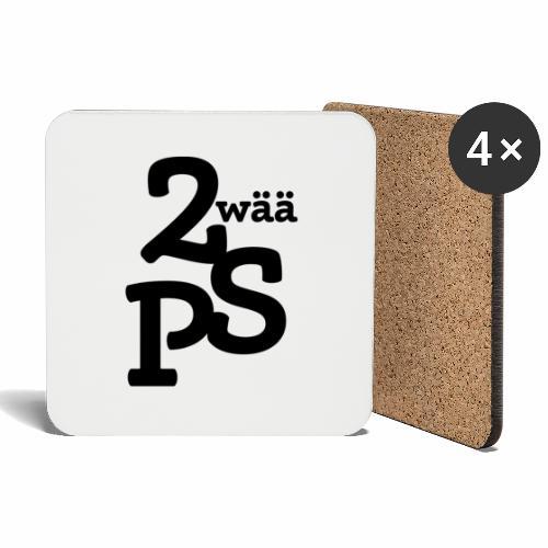 Zwää PS Logo schwarz - Untersetzer (4er-Set)