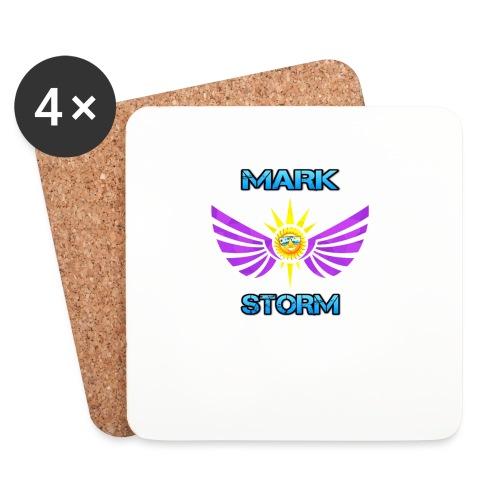 Mark Storm logo - Coasters (set of 4)