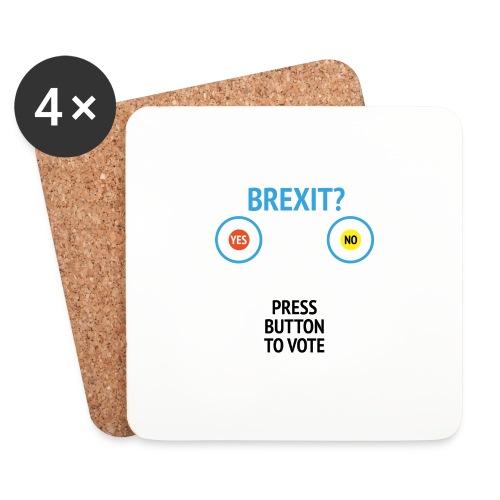Brexit: Press Button To Vote - Glasbrikker (sæt med 4 stk.)