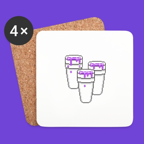 Purple - Sottobicchieri (set da 4 pezzi)