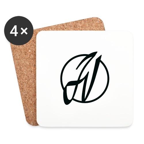 JV Guitars - logo noir - Dessous de verre (lot de 4)