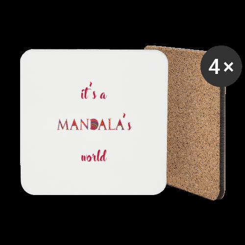 It's a mandala's world - Coasters (set of 4)