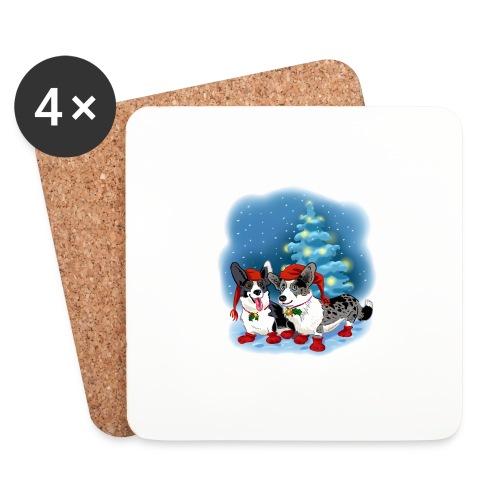 CORGI CHRISTMAS - Brikker (sett med 4)