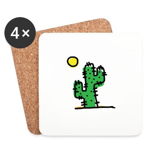 Cactus single - Sottobicchieri (set da 4 pezzi)