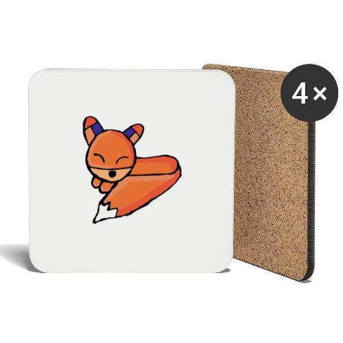 Edo le renard - Dessous de verre (lot de 4)