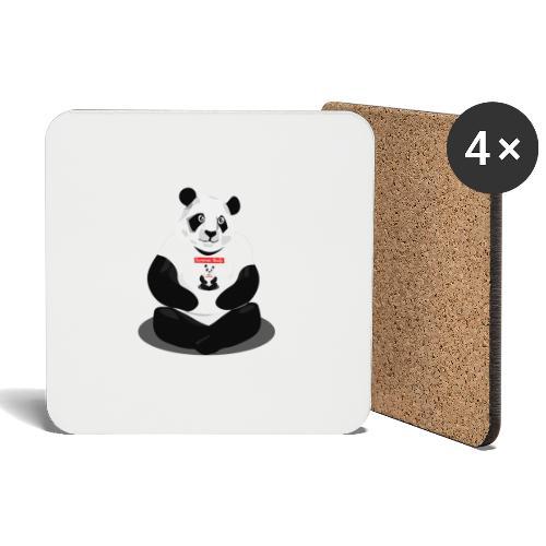 panda hd - Dessous de verre (lot de 4)