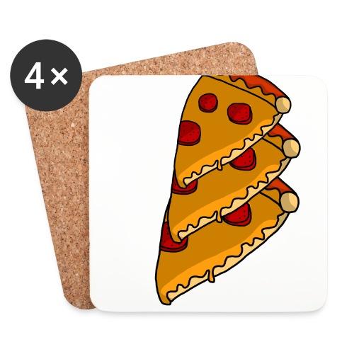 pizza - Glasbrikker (sæt med 4 stk.)