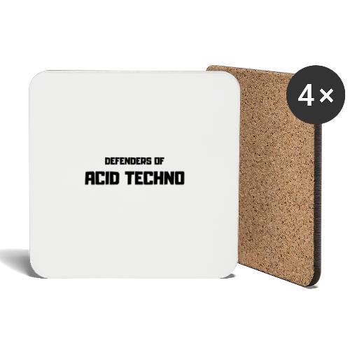 Defenders of Acid Techno [Black Print] - Coasters (set of 4)