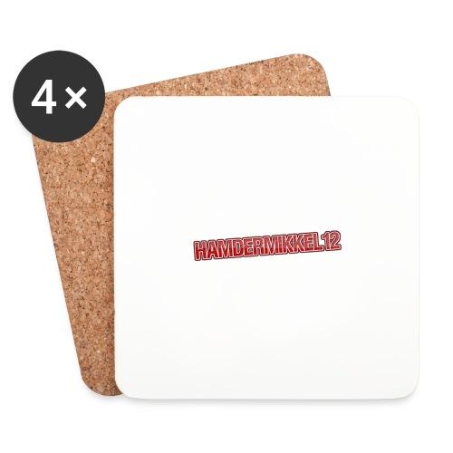 HamDerMikkel12 Text - Glasbrikker (sæt med 4 stk.)