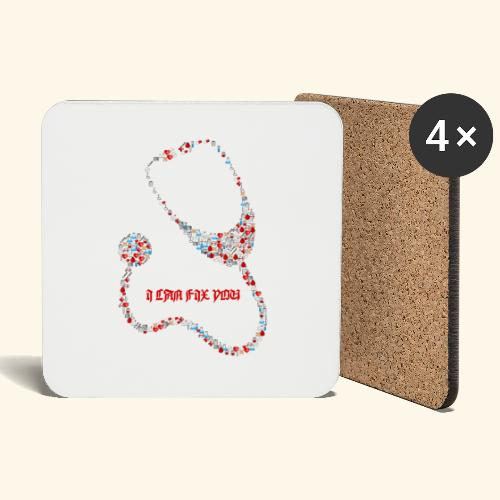 i will fix you stethoscope - Coasters (set of 4)