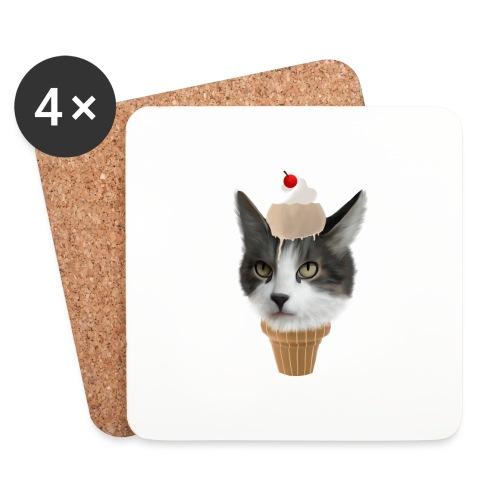 Ice Cream Cat - Untersetzer (4er-Set)