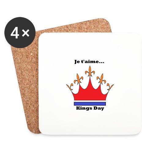 Je taime Kings Day (Je suis...) - Onderzetters (4 stuks)