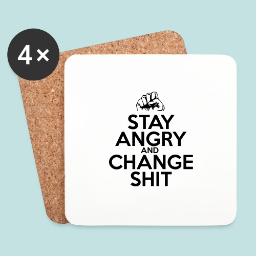 Stay Angry - Coasters (set of 4)