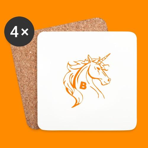 orange biodusty unicorn shirt - Onderzetters (4 stuks)