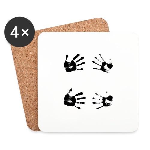 Schwarze Handabdrücke. Geschenk - Sottobicchieri (set da 4 pezzi)