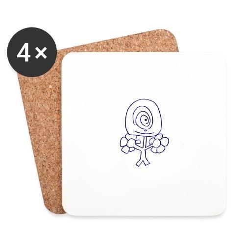 Poppetje 1 oog - Onderzetters (4 stuks)