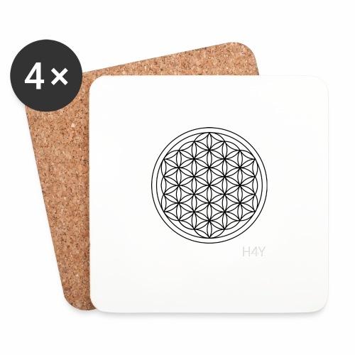 Flower Of Life - This Design Will Heal You - Glasbrikker (sæt med 4 stk.)