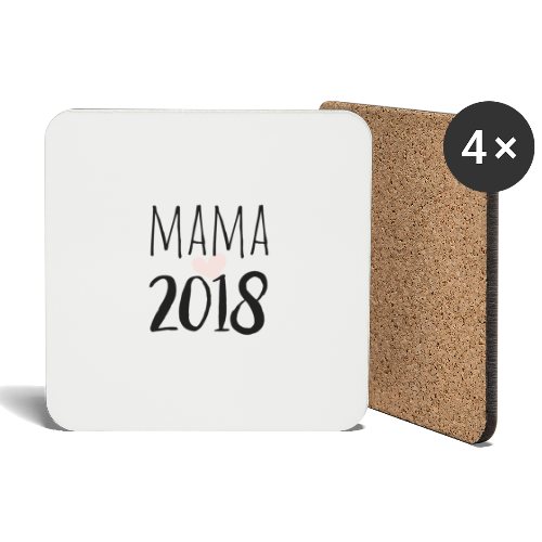 Mama 2018 - Untersetzer (4er-Set)