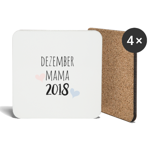 Dezember Mama 2018 - Untersetzer (4er-Set)
