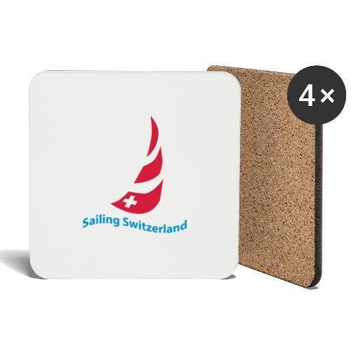 logo sailing switzerland - Untersetzer (4er-Set)