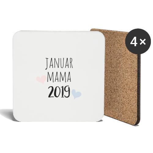 Januar Mama 2019 - Untersetzer (4er-Set)