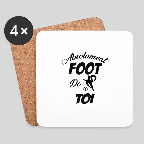 Absolument Foot de Toi (N) - Dessous de verre (lot de 4)