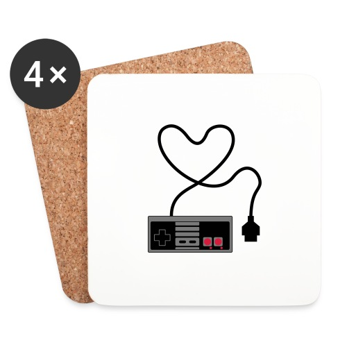 NES Controller Heart - Coasters (set of 4)
