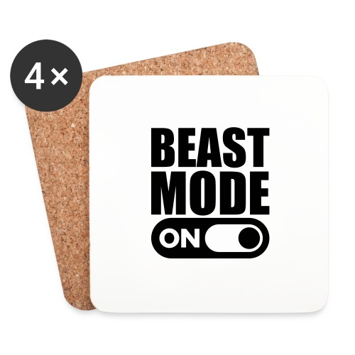 BEAST MODE ON - Coasters (set of 4)