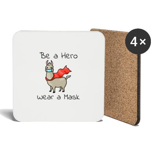Sei ein Held, trag eine Maske - fight COVID-19 - Untersetzer (4er-Set)