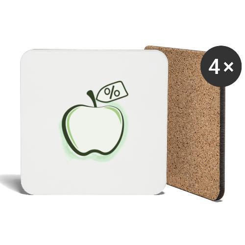 Sund på budget logo - Glasbrikker (sæt med 4 stk.)