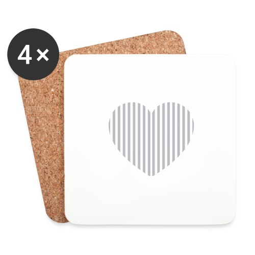 heart_striped.png - Coasters (set of 4)