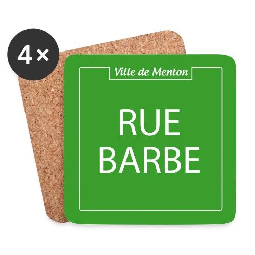 rue barbe - Dessous de verre (lot de 4)