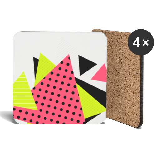 Neon geometry shapes - Coasters (set of 4)