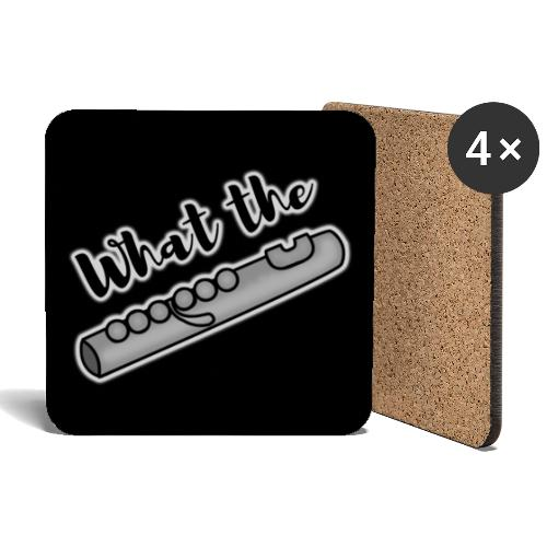 What the Flute, black - Coasters (set of 4)