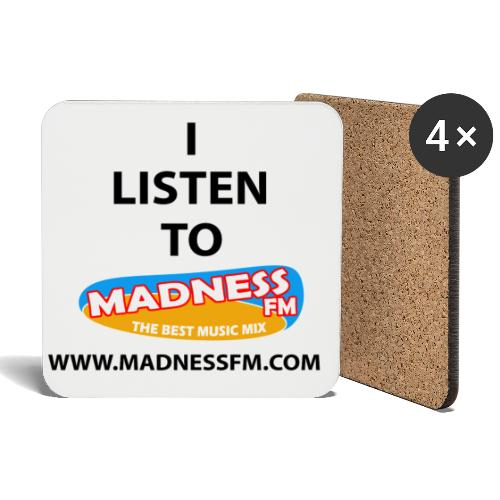 I listen to Madness FM - Coasters (set of 4)