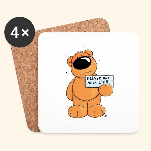 chris bears Keiner hat mich lieb - Untersetzer (4er-Set)