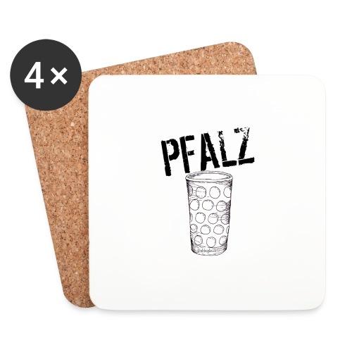 Pfalzshirt mit Dubbeglas, weiß - Untersetzer (4er-Set)