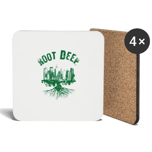 Root deep Urban grün - Untersetzer (4er-Set)
