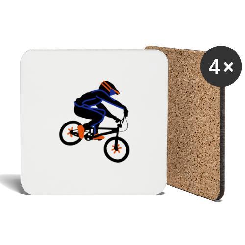 BMX Rider Dark - Onderzetters (4 stuks)