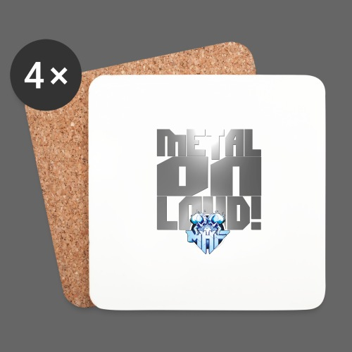 metalonloud large 4k png - Coasters (set of 4)