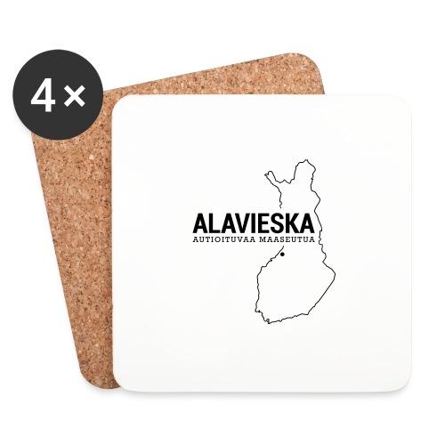 Kotiseutupaita - Alavieska - Lasinalustat (4 kpl:n setti)