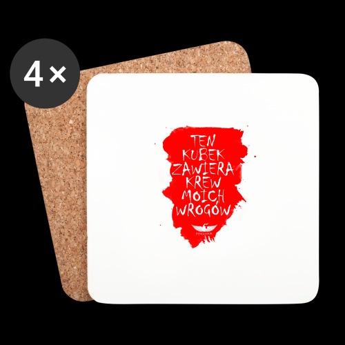 Krwisty kubek - Podstawki (4 sztuki w zestawie)